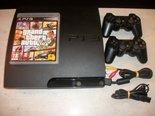 PS3-Slimline-320GB-Gebruikt-+-GTA-5-+-2-Controllers