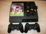 PS3-Slimline-250GB-Gebruikt-+-FIFA-16-+-2-Controllers