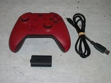 XBOX One Controller Rood Draadloos met accupack Microsoft